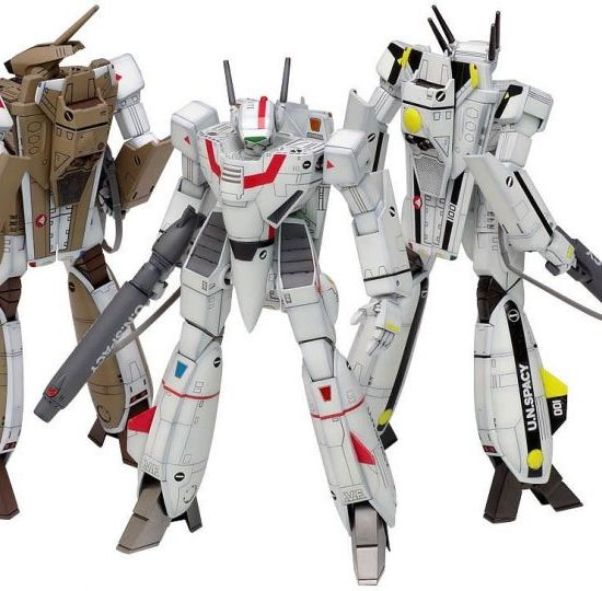 Wave Releases 1/100 VF-1 (A/J/S) Battroid and Fighter Multiplex
