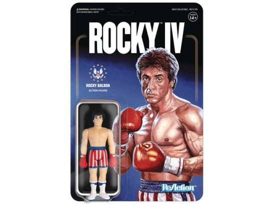 SUPER 7 REACTION ROCKY IV ROCKY BALBOA WINTER TRAINING 3.75 INCH ACTION FIGURE