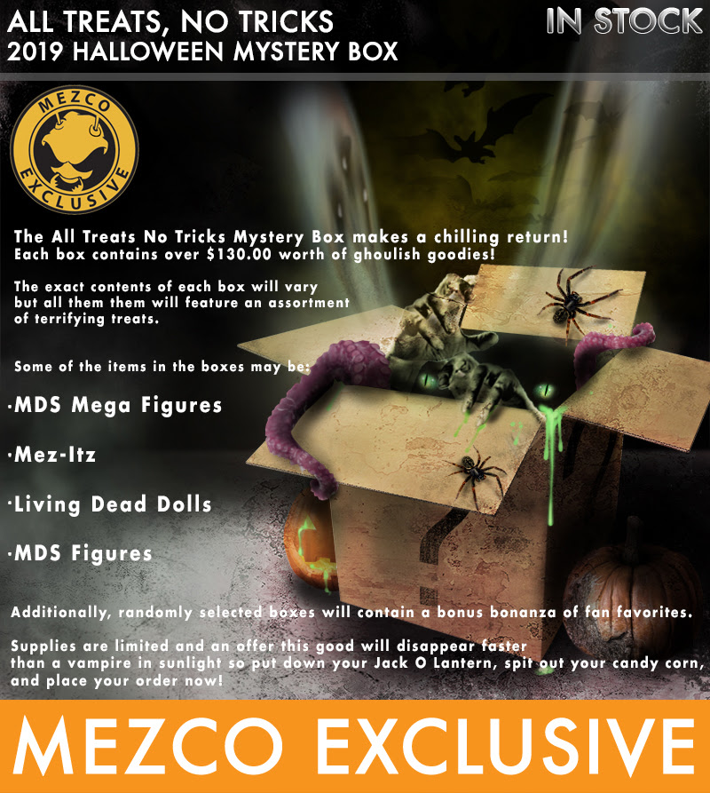 Mezco 2020 Halloween Mystery Box Mezco Toyz Opens Sales on its All Treats, No Tricks – Mystery Box