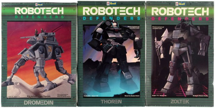 "Vintage Revel Robotech Defenders Model kits ""Dougram"""